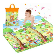 Tapete Atividades Infantil Dupla Face 1,80x1,20 * Colorido!