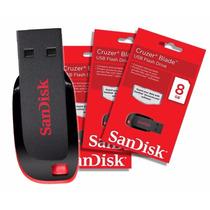 Pen Drive Sandisk 8 Gb Cruzer Blade Lacrado
