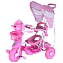 Triciclo Infantil Capota 3 Em 1 Carrinho E Gangorra
