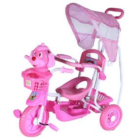 Triciclo Infantil Rosa Capota 3 Em 1 Frete Grátis