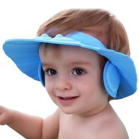 Chapéu Protetor De Olho Ouvido Rosto Banho Em Bebê Cores