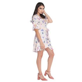 Vestido Cruzado Rayas Flores 64-s83103-uni A1