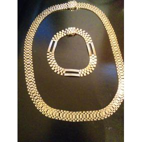 Cadena Y Esclava Tipo Rolex 14k