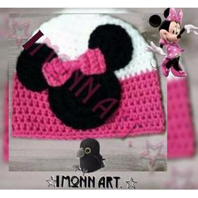 Gorro, Minnie Mouse, #2 Tejido A Mano, Crochet