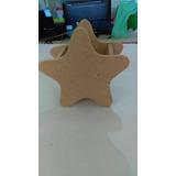 Estrella De Madera Para Centro De Mesa, Dulcero Y Recuerdo