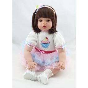 Boneca Real Bebe Reborn Corpo Algodão 50cm Importado