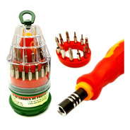 Kit Ferramentas Chaves 31em1 Torx T4 Philips Allen Triwing