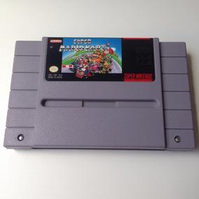 Cartucho Super Mario Kart Original Salvando - Super Nintendo