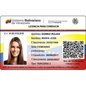 Impresión De Licencia De Conducir En Pvc Somos Tienda Física
