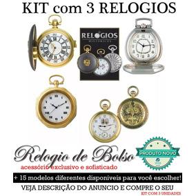 Lote Kit 3 Relogios De Bolso Historicos Novos - Frete Unico