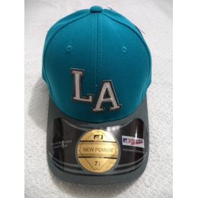 Gorra Azul Los Angeles New Power 7 1/4 Etiquetada