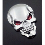 Adesivo Cranio Caveira Metal 3d Top Linha Carro Moto Skull