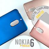 Funda Protector Case Cristal Templado Mica Colores Nokia 6