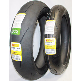Pneu Pirelli 160/60-17 E 120/70-17 Diablo Super Corsa Sc2
