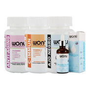 Wonu Pack Life Anti-aging + Ajo Negro + C-inmmune + Serum