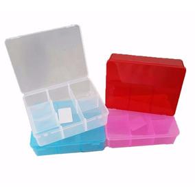 70 - Estojo Caixa Box Plástica Organizadora 6 Divisórias Cor