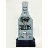 Destapador Abre Botellas De Cervezas Con Recipiente
