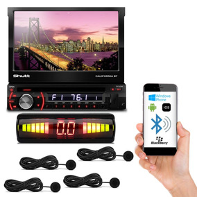 Dvd Player Shutt Califórnia Bt Lcd Retrátil + Sensor De Ré