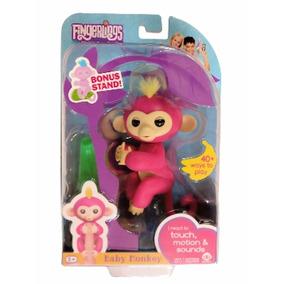 Fingerlings Baby Monkey, Macaquinho Interativo-pink