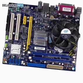 Placa Mãe Foxconn Lga775 Ddr2 Processador Celeron 420 (9578)