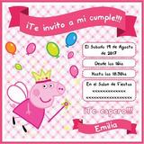 Invitaciones Peppa Pig Whatsapp Redes Sociales Imprimir