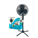 Ventilador 16` De Pedestal Negro Oscilante Comfort Zone