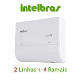 Micro Pabx Intelbras Conecta Mais 2 Linhas 4 Ramais Ou 2x8*