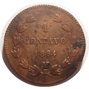 1 Centavo 1864 M- Imperio Mexicano- Maximiliano De Habsburgo