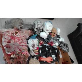 Lote Decoracion Hallowen Zombies Msacaras Moustruos
