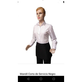 Mandil Corto Con Bolsas 100% Algodón