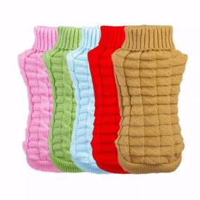 Camisa De Crochê Com Gola Alta Para Cachorros