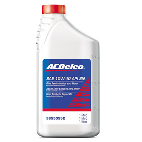 Oleo Semisintetico P/ Motor Api Sn 10w-40 Acdelco