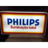 Luminoso Philips , Radio Valvulado Tv Antiguidade Propaganda