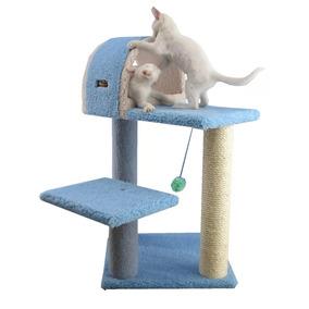 Arbol Trepador Rascador Para Gatos Trepar Casa Azul Vbf
