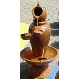 Fonte Dágua Vaso Barro Cerâmica Cascata Com Bomba P Jardins