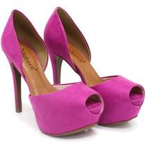 Sapato Bebecê Peep Toe Rosa   Zariff