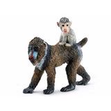 Miniatura De Macaco Mandril Fêmea Com Filhote Schleich