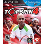 Top Spin 4 Ps3 | Español Tenis Stock Permanente Inmediato!