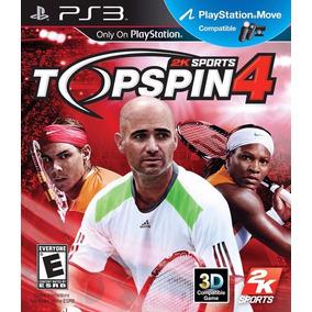 Top Spin 4 Ps3 | Digital Español Tenis Compatible Con Move!