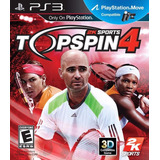 Top Spin 4 Ps3 | Digital Español Tenis Compatible Con Move!