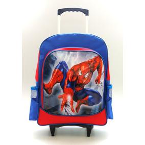 Mochila Homem Aranha Rodinhas Escolar Spider Man