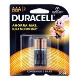 Pilas Duracell Bateria Alcalina Aaa Blister X 2 Un