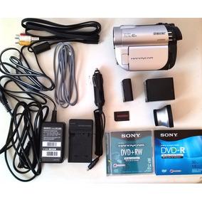 Filmadora Sony Dcr Dvd-610 Completa Acessórios Defeito