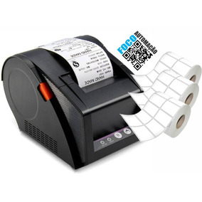 Impressora Etiquetas Código De Barras 80mm + 3 Rolos