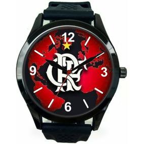Relógio Pulso Flamengo Personalizado Esportivo Masculino