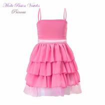 Vestido Nena Princesas Fiesta Volados Tul Gasa Moda Pasion