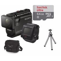 Filmadora Sony Hdr-as50r C/ Controle+64gb+bolsa+tripé As50r.
