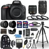 Nikon-d5600-cámara Digital-18-55mm-vr-70-300mm