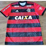 Camisa Flamengo Usada Jogo Brasileiro 2018 Autografada Todos a79c4279af4e6