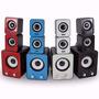 Caixa De Som 2.1 Hs-999 20w Rms P2 Pc Note Ipod Mp3 Origina